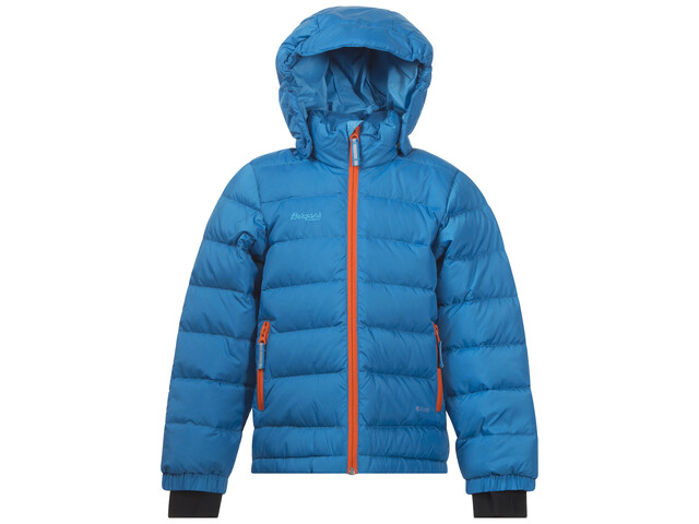Bergans Kids Down Jacket Lt SeaBlue/Koi Orange